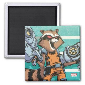 Guardians of the Galaxy | Rocket Mugshot Magnet