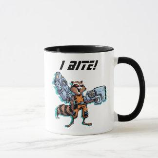 Guardians of the Galaxy   Rocket Mugshot Mug