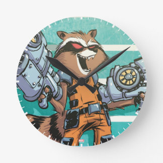 Guardians of the Galaxy | Rocket Mugshot Round Clock