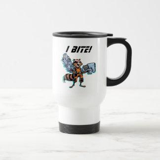 Guardians of the Galaxy   Rocket Mugshot Travel Mug