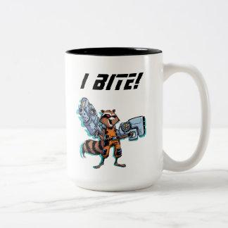 Guardians of the Galaxy   Rocket Mugshot Two-Tone Coffee Mug