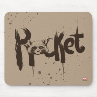 Guardians of the Galaxy | Rocket Painted Name Mouse Pad