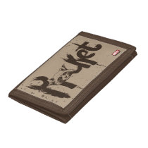 Guardians of the Galaxy | Rocket Painted Name Tri-fold Wallet