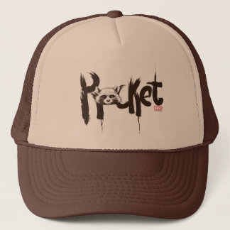 Guardians of the Galaxy | Rocket Painted Name Trucker Hat