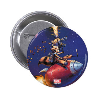 Guardians of the Galaxy | Rocket Riding Missile Pinback Button