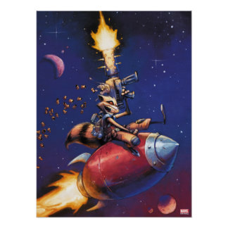 Guardians of the Galaxy | Rocket Riding Missile Poster