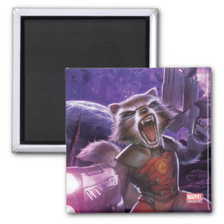 Guardians of the Galaxy | Rocket With Guns Magnet