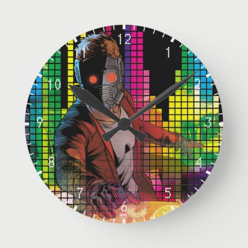Guardians of the Galaxy | Star-Lord DJ Round Clock