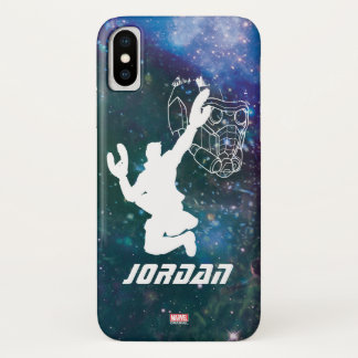 Guardians of the Galaxy   Star-Lord Galaxy Cutout iPhone X Case