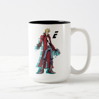 Guardians of the Galaxy   Star-Lord Mugshot Two-Tone Coffee Mug