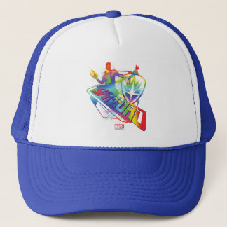 Guardians of the Galaxy   Star-Lord Neon Graphic Trucker Hat