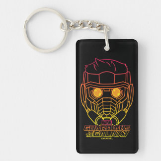 Guardians of the Galaxy | Star-Lord Neon Outline Keychain