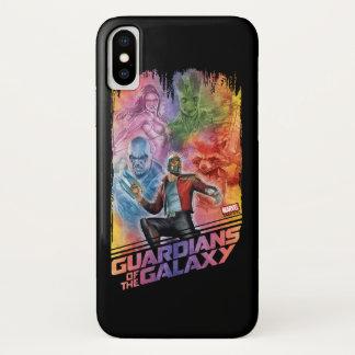 Guardians of the Galaxy | Technicolor Crew Art iPhone X Case