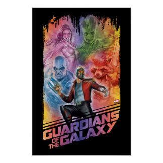 Guardians of the Galaxy | Technicolor Crew Art Poster