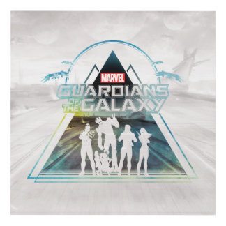 Guardians of the Galaxy   Triangle Outline Crew Panel Wall Art