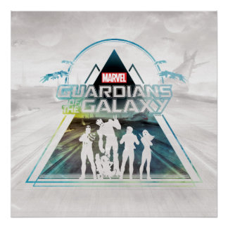 Guardians of the Galaxy   Triangle Outline Crew Poster