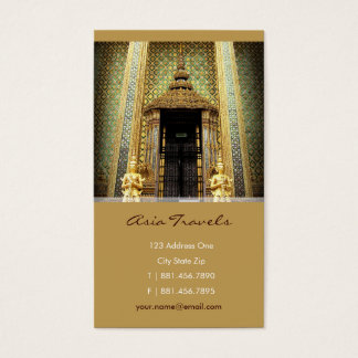 Guardians Of The Golden Palace Thailand Photo Business Card