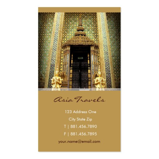 Guardians Of The Golden Palace Thailand Photo Business Cards