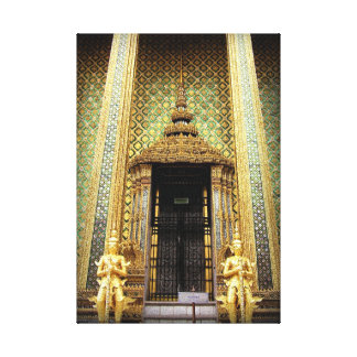 Guardians Of The Golden Palace Thailand Photo Canvas Print