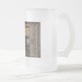 Guardians of the light frosted glass beer mug