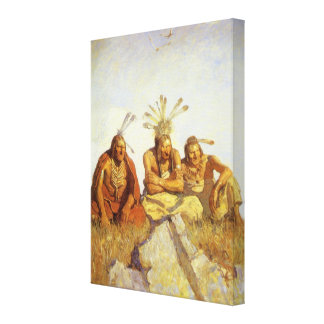 Guardians War or Peace by NC Wyeth Vintage West Gallery Wrap Canvas