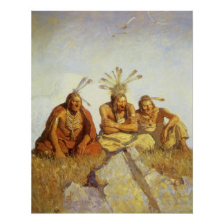 Guardians War or Peace by NC Wyeth Vintage West Posters