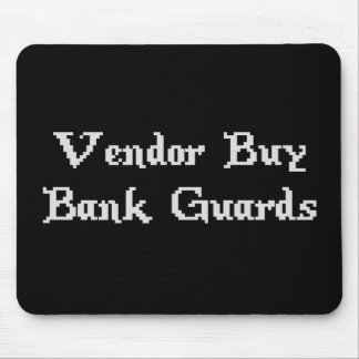 Guardias de banco en línea de la compra del vended tapete de ratón