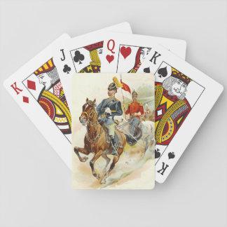 Guardias de caballo de Roxbury 1895 Cartas De Póquer