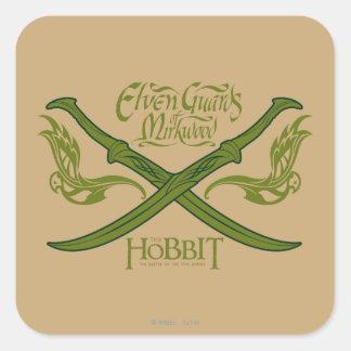 Guardias de Elven del icono de la película de Pegatina Cuadrada