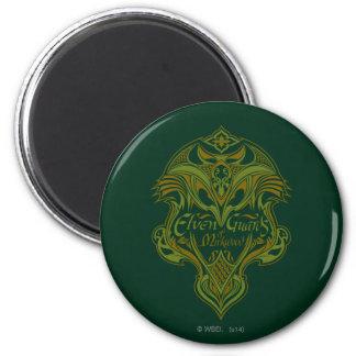 Guardias de Elven del icono del escudo de Mirkwood Imán Redondo 5 Cm