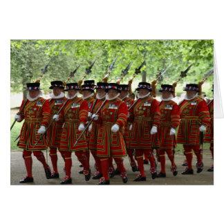 guardias de Londres Tarjeta De Felicitación