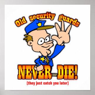 Guardias de seguridad poster