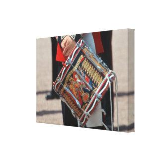 Guardias del granadero del tambor - Londres Impresiones En Lona