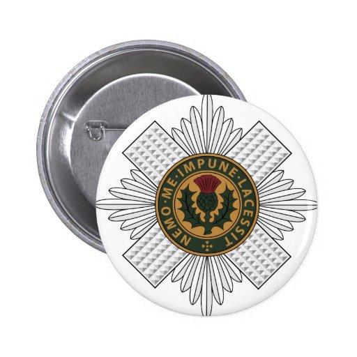 Guardias escoceses pin redondo de 2 pulgadas