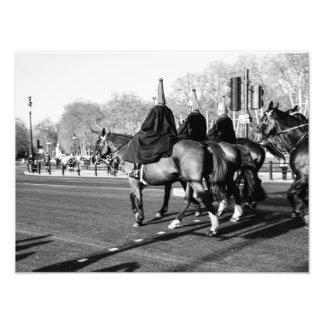 Guardias reales de Londres en los caballos, la Fotografías