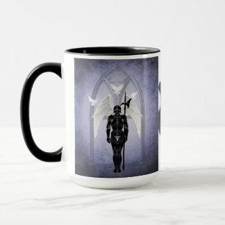Guarding Heavens Gate Blue Knight Mug