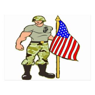 Guarding the American Flag Postcard