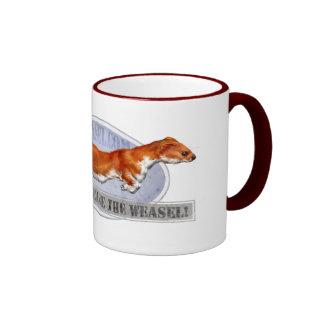 Guards, release the weasel! ringer mug