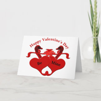 Guardsman Red Hearts Swans Holiday Card