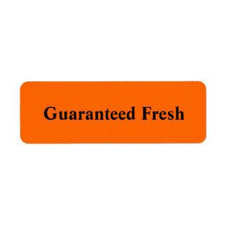 Guarenteed Fresh Label