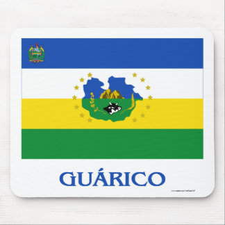 Guárico Flag with Name Mouse Pad