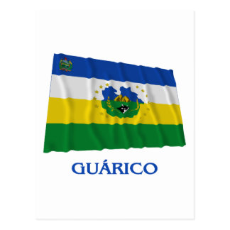 Guárico Waving Flag with Name Postcard