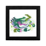 Guarida de los dragones (en colores pastel) caja de recuerdo