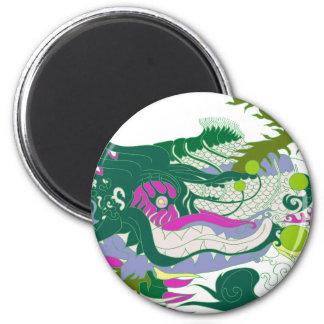 Guarida de los dragones (en colores pastel)) iman de nevera