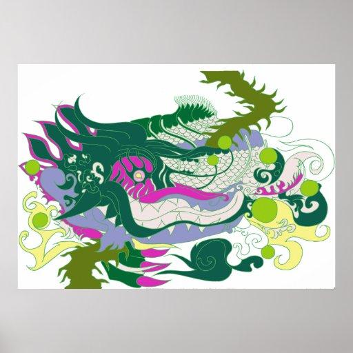 Guarida de los dragones (en colores pastel) impresiones