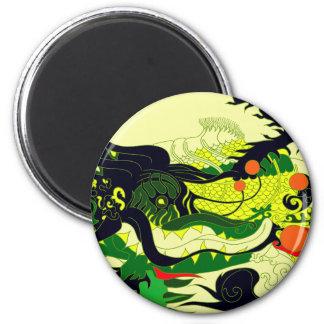 Guarida de los dragones (pergamino) imán de frigorifico