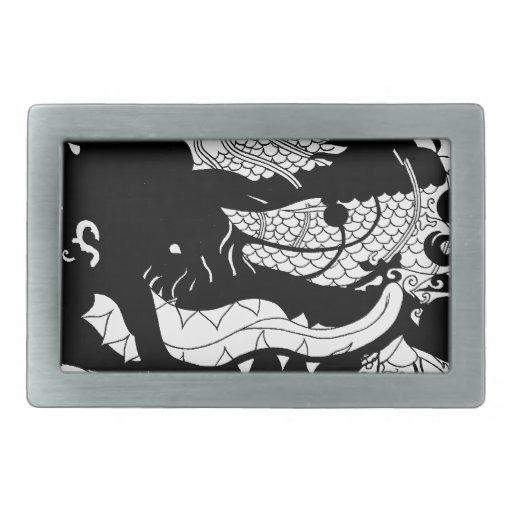 Guarida de los dragones (silueta) hebilla cinturón