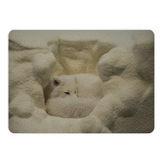 Guarida del Fox ártico Invitación 12,7 X 17,8 Cm