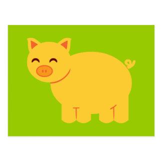 Guarro amarillo lindo tarjetas postales