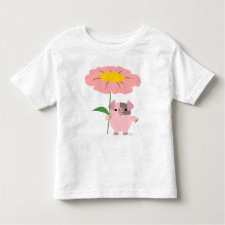 Guarro con una camiseta (rosada) de los niños del